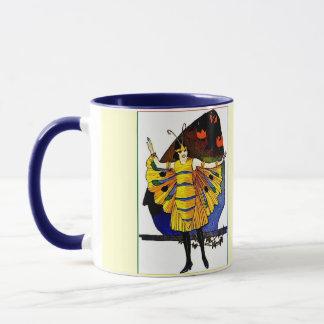 蝶女性 マグカップ