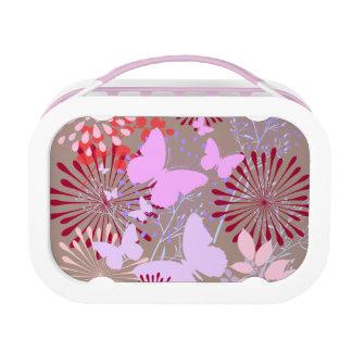 蝶庭の春の花のデザイン ランチボックス