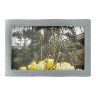 蝶庭ラスベガス米国アメリカからの花 長方形ベルトバックル