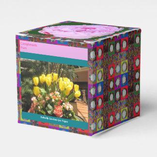 蝶庭編集可能DIY 2x2の好意箱を開花して下さい フェイバーボックス