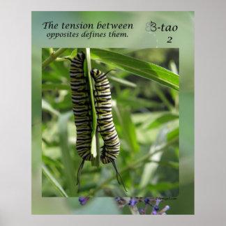 蝶方法- 02の反対 ポスター