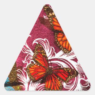 蝶渦巻 三角形シール