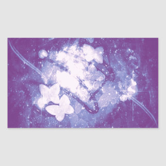 蝶渦巻 長方形シール