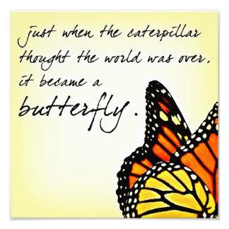 蝶生命苦闘の感動的な引用文 フォトプリント