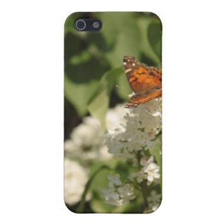 蝶白い薄紫のiPodの箱2 iPhone 5 Cover
