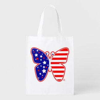蝶米国の星条旗 エコバッグ