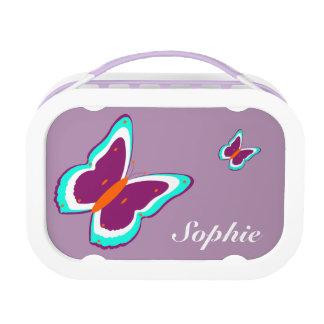蝶紫色のカスタムな紫色のyuboのお弁当箱 ランチボックス