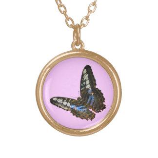 蝶美しいの昆虫恋人のギフトシリーズ ゴールドプレートネックレス