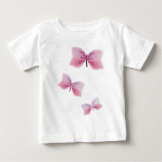 蝶美しいアロハハワイの花の結婚式 ベビーTシャツ