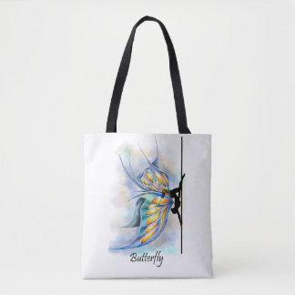 蝶翼のバッグとのポーランド人のダンスの蝶姿勢 トートバッグ
