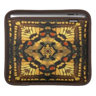 蝶翼の万華鏡のように千変万化するパターンのiPadの袖 iPadスリーブ
