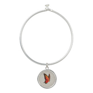 蝶腕輪のチャームブレスレット バングルブレスレット