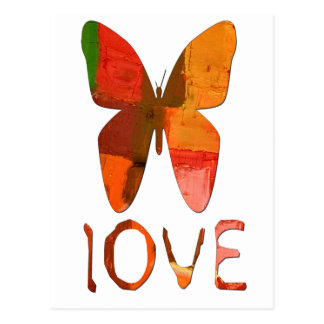 蝶色彩の鮮やかな愛 ポストカード