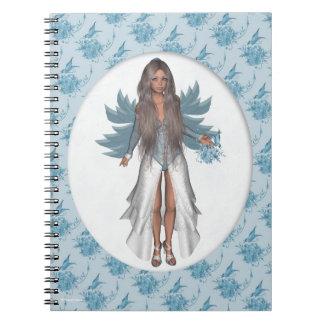 蝶花の冬の妖精のフェリシア ノートブック