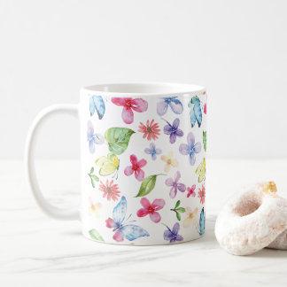 蝶花の春のマグ コーヒーマグカップ