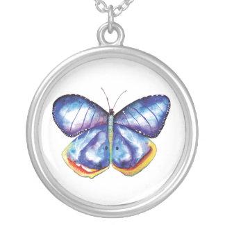 蝶芸術のネックレス シルバープレートネックレス