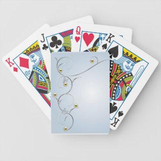 蝶青い遊ぶことの銀または金ゴールドの枝 バイスクルトランプ
