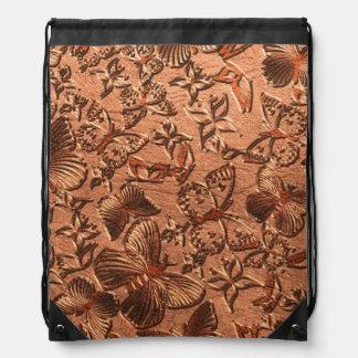 蝶革1つのドローストリングのバックパック ナップサック