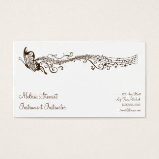蝶音楽の先生の名刺 名刺