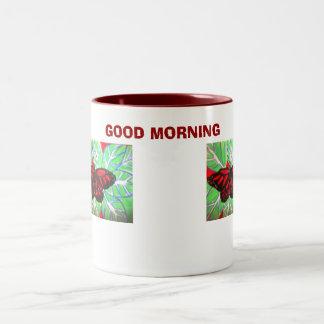 蝶、おはよう ツートーンマグカップ