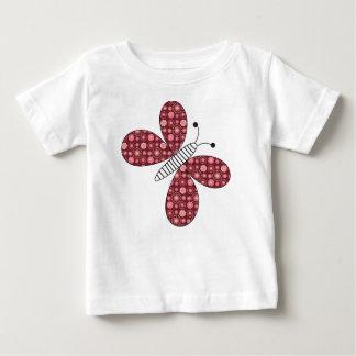 蝶、スケッチ ベビーTシャツ