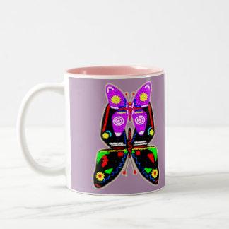 蝶 ツートーンマグカップ