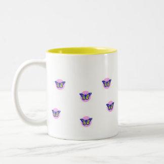 蝶、 ツートーンマグカップ