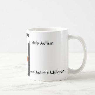 蝶、助けの自閉症は、自閉症の子供を愛します コーヒーマグカップ