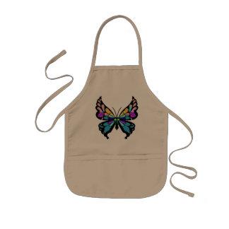 蝶 子供用エプロン