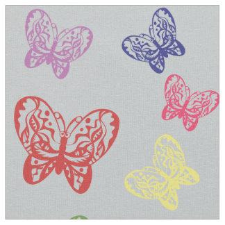 蝶-手描きのデザイン ファブリック