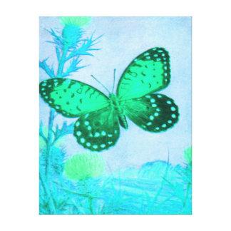 蝶-水-緑 キャンバスプリント