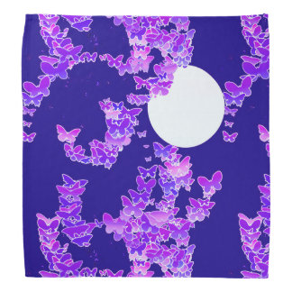 蝶-濃紺薄紫とのMoonscape バンダナ