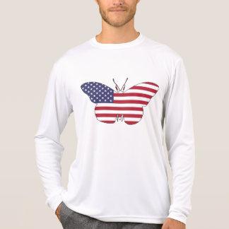 """蝶""""米国旗"""" Tシャツ"""