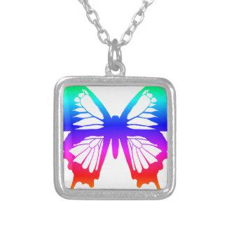 蝶-虹 シルバープレートネックレス