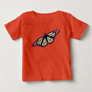 """""""蝶""""赤ん坊の素晴らしいジャージーのTシャツ ベビーTシャツ"""