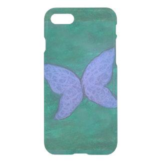蝶|青いすみれ色の紫色の緑の翼 iPhone 8/7 ケース