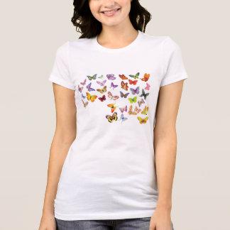 蝶、 Tシャツ
