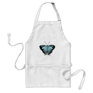 蝶Customizibleの青いエプロン、台所エプロン スタンダードエプロン