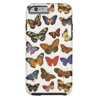 蝶iPhone 6/6Sの堅い場合 ケース