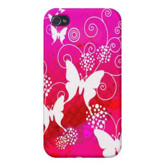 蝶Ipod touchのピンクの場合 iPhone 4/4S Cover