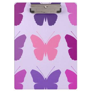 蝶Lgパターンは紫色の藤色を飾ります クリップボード