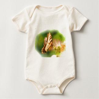 蝶mimosaの木 ベビーボディスーツ