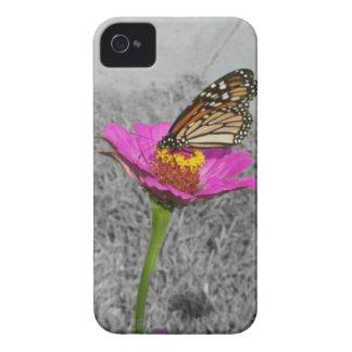 蝶N 《植物》百日草のブラックベリーのはっきりしたな箱 Case-Mate iPhone 4 ケース