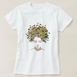 蝶Tシャツの毛 Tシャツ