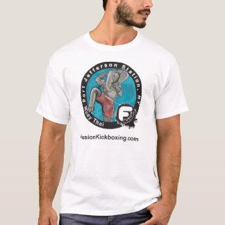 融合の人のティーの前部芸術だけ Tシャツ
