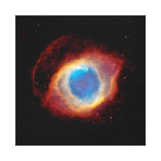 螺旋形の惑星状星雲NGC 7293 -神の目 キャンバスプリント