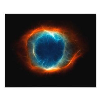 螺旋形の星雲の星の宇宙の雲 チラシ