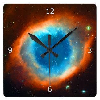 螺旋形の星雲 スクエア壁時計