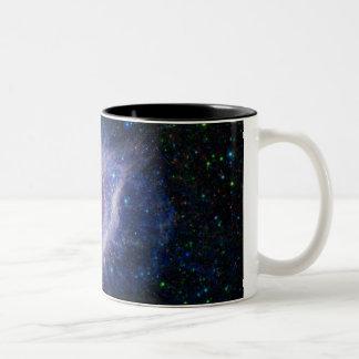 螺旋形の星雲 ツートーンマグカップ