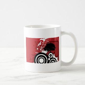 螺線形およびしぶきのデザイン コーヒーマグカップ